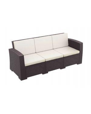 Τριθέσιος καναπές πολυπροπυλενίου Monaco με μαξιλάρια