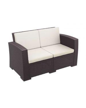 Διθέσιος καναπές πολυπροπυλενίου Monaco με μαξιλάρια