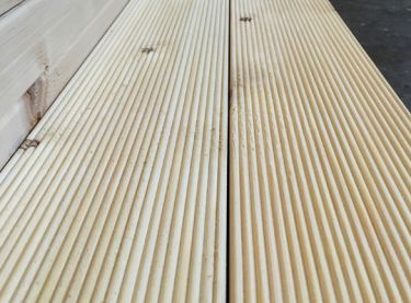 Ξύλινο πάτωμα deck Πεύκο Φυσικό καρφωτό