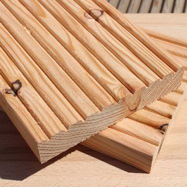Ξύλινο Πάτωμα Deck καρφωτό Έλατο