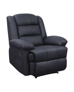 Πολυθρόνα Relax Vivian μαύρο PU