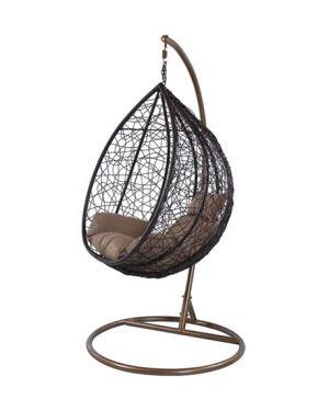 Κρεμαστή πολυθρόνα Nest 11 καφέ