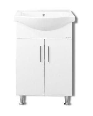 Πάγκος μπάνιου με νιπτήρα Siena 55