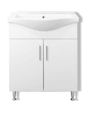 Πάγκος μπάνιου με νιπτήρα Siena 65