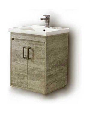 Κρεμαστός πάγκος μπάνιου με νιπτήρα Savina 65