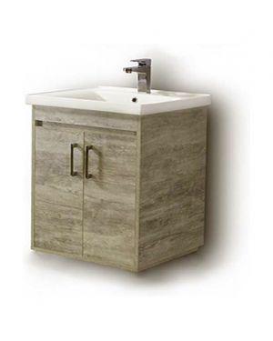 Κρεμαστός πάγκος μπάνιου με νιπτήρα Savina 80