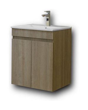Κρεμαστός πάγκος μπάνιου με νιπτήρα Omega 50