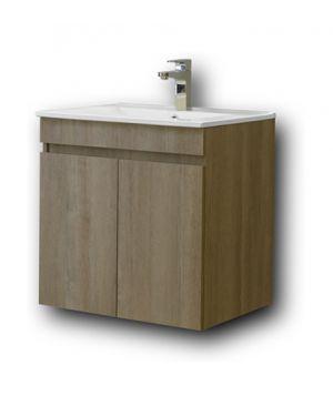 Κρεμαστός πάγκος μπάνιου με νιπτήρα Omega 60