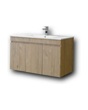 Κρεμαστός πάγκος μπάνιου με νιπτήρα Omega 100