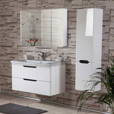 Σετ έπιπλο μπάνιου Bele White 105