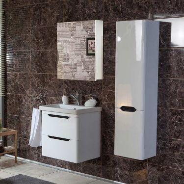 Σετ έπιπλο μπάνιου Bele White 80