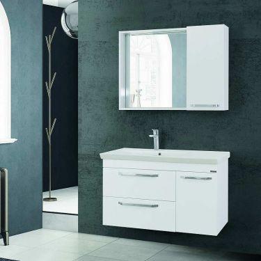 Σετ έπιπλο μπάνιου Dode White 85