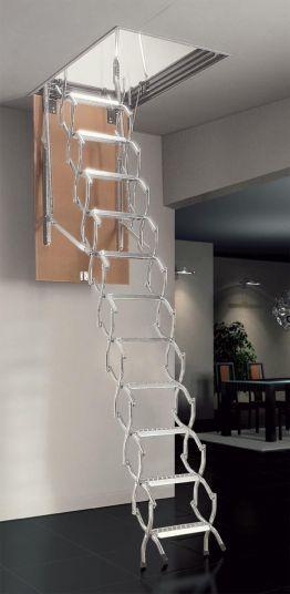 Μεταλλική πτυσσόμενη σκάλα σοφίτας zx