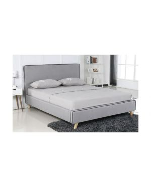 MORISSON Κρεβάτι Διπλό Ύφασμα Ανοιχτό Γκρι