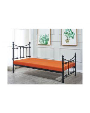 LANCER Κρεβάτι Μονό Μέταλλο Βαφή Μαύρο