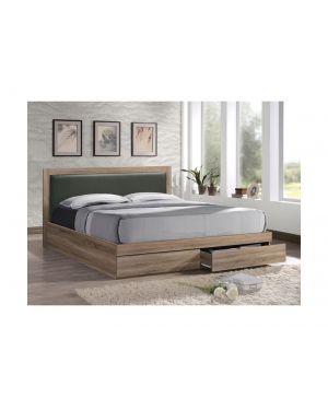 LIFE Κρεβάτι Διπλό Sonoma με 2 Συρτάρια και Κεφαλάρι Pvc