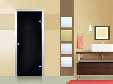 Πόρτα σειρά Glass: Αλουμίνιο-Γυαλί