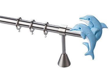Παιδικό Κουρτινόξυλο: Δελφίνια