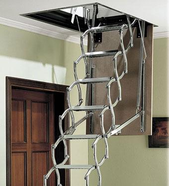 Μεταλλική πτυσσόμενη σκάλα σοφίτας PAN