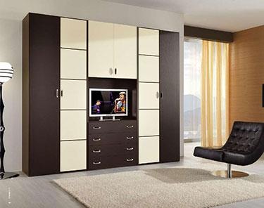 Εξάφυλλη ανοιγόμενη ντουλάπα με ανοιχτή εσοχή Lorena L140
