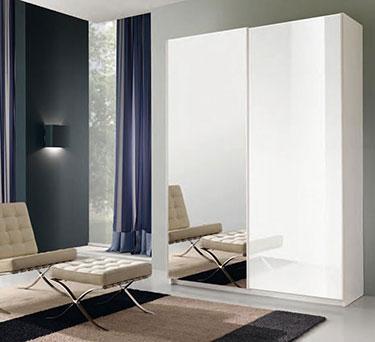 Δίφυλλη συρόμενη ντουλάπα με καθρέπτη Thesys 011