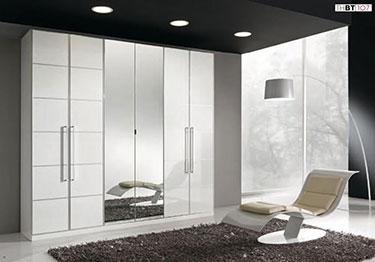 Εξάφυλλη ανοιγόμενη ντουλάπα με καθρέπτη Thesys 107