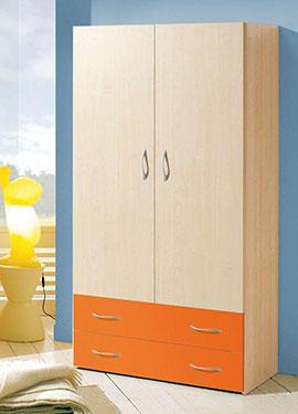 Δίφυλλη ανοιγόμενη ντουλάπα παιδικού δωματίου OM 54
