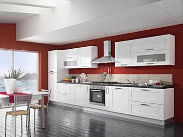 Κουζίνα Sarin Bianco
