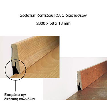 ΔΑΠΕΔΟ LAMINATE ELEGANT OAK Μ8521