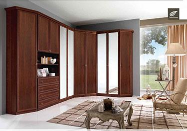Γωνιακή ανοιγόμενη ντουλάπα Ninfea NF 022