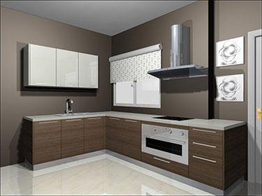 Σύνθεση μοντέρνων επίπλων κουζίνας mod. ART 01520