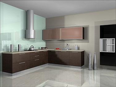 Σύνθεση μοντέρνων επίπλων κουζίνας mod. ART 01521