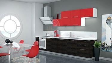 Σύνθεση μοντέρνων επίπλων κουζίνας mod. ART 01523