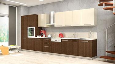 Σύνθεση μοντέρνων επίπλων κουζίνας mod. ART 01524