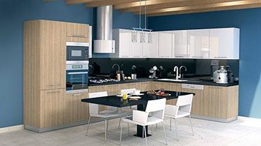 Σύνθεση μοντέρνων επίπλων κουζίνας mod. ART 01525