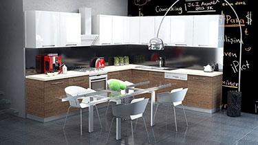 Σύνθεση μοντέρνων επίπλων κουζίνας mod. ART 01527
