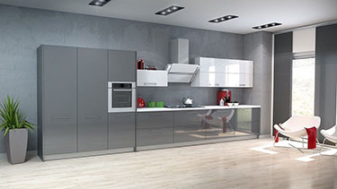 Σύνθεση μοντέρνων επίπλων κουζίνας mod. ART 01528