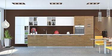 Σύνθεση μοντέρνων επίπλων κουζίνας mod. ART 01529