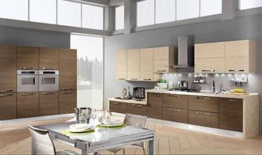 Σύνθεση μοντέρνων επίπλων κουζίνας Sandra