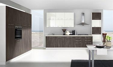 Σύνθεση μοντέρνων επίπλων κουζίνας mod. KIRA 01