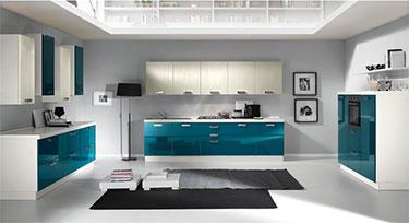 Σύνθεση μοντέρνων επίπλων κουζίνας mod. KIRA 03