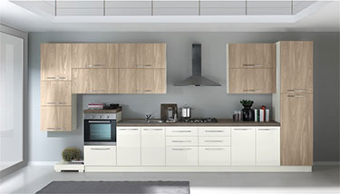Σύνθεση μοντέρνων επίπλων κουζίνας mod. KIRA 04