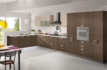 Σύνθεση μοντέρνων επίπλων κουζίνας mod. NEW SMART 02