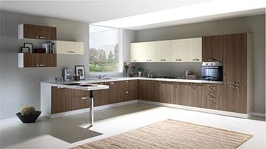 Σύνθεση μοντέρνων επίπλων κουζίνας mod. NEW SMART 03