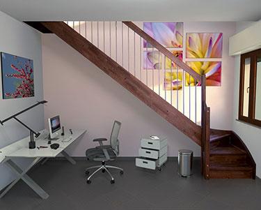 Ξύλινη σκάλα κρεμαστή 01046