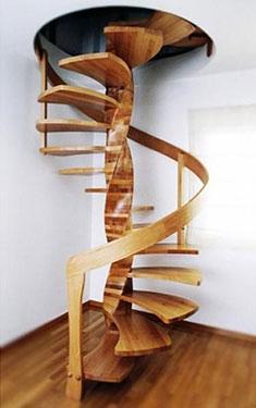 Ξύλινη σκάλα κυκλική DNA