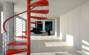 Ξύλινη κυκλική σκάλα ART 01045