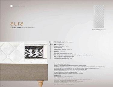 Ορθοπεδικό στρώμα Aura Classic από 111 έως 120 εκ.