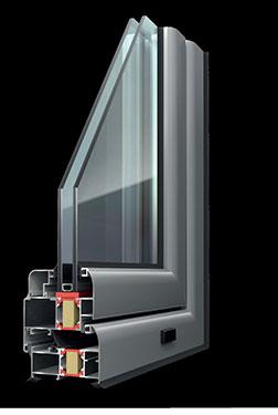Ανοιγόμενο κούφωμα Exalco Albio 109 με θερμοδιακοπή