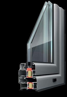 Ανοιγόμενο κούφωμα Exalco Albio 109c με θερμοδιακοπή